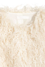 Faux fur jacket - Natural white - Ladies | H&M 3
