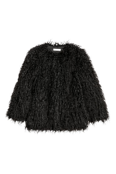 Faux fur jacket - Black - Ladies | H&M CN 1