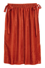 Velour skirt - Rust red - Ladies | H&M 2