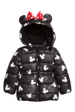 Padded Jacket - Black/Minnie Mouse - Kids | H&M CA 2