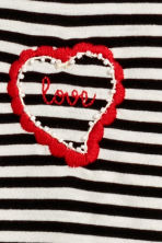 Wide T-shirt - Black/White striped - Ladies | H&M CN 2