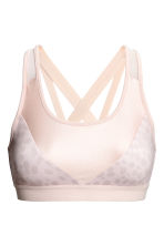 Sports bra Low support - Powder pink/Leopard print - Ladies | H&M CN 2