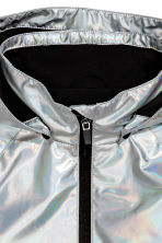 Rain coat with a hood - Silver -  | H&M 2