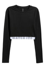 Cropped jersey top - Black - Ladies | H&M 2