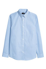 Easy-iron shirt Slim fit - Blue/Striped - Men | H&M CN 2