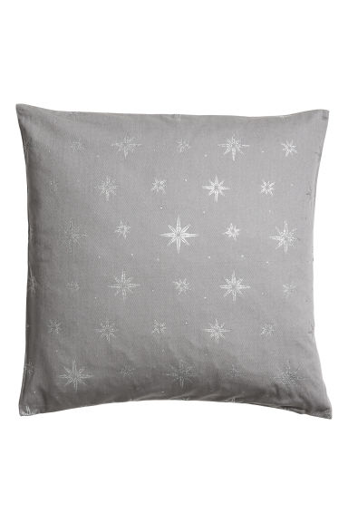 Christmas-print cushion cover - Grey/Silver-coloured -  | H&M GB 1