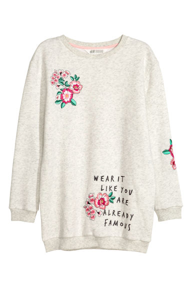 Sweatshirt with a motif - Grey - Kids | H&M