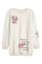 Sweatshirt with a motif - Grey -  | H&M 1