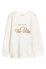 Sweatshirt with a motif - White/Spotted - Kids | H&M CN 2