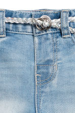 Jeans with belt - Light blue -  | H&M 3