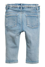 Jeans with belt - Light blue -  | H&M 2