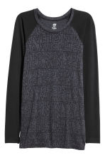 Top training sans coutures - Gris/noir - FEMME | H&M BE 2