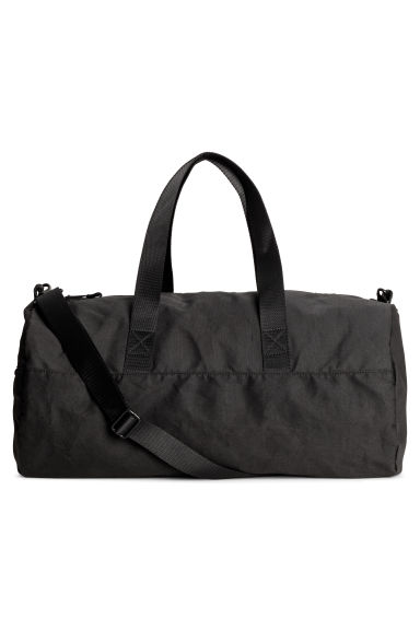 Cylindrical sports bag - Black - Men | H&M