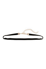 2-pack chokers - Gold-coloured/Black - Ladies | H&M CN 2