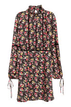 Chiffon dress - Black/Floral - Ladies | H&M GB 2