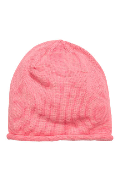 Fine-knit hat - Pink - Kids | H&M
