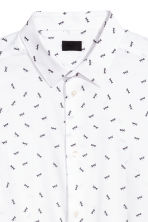 Popeline hemd Slim fit - Wit/dessin - HEREN | H&M BE 2