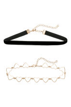 2-pack chokers - Black - Ladies | H&M 1