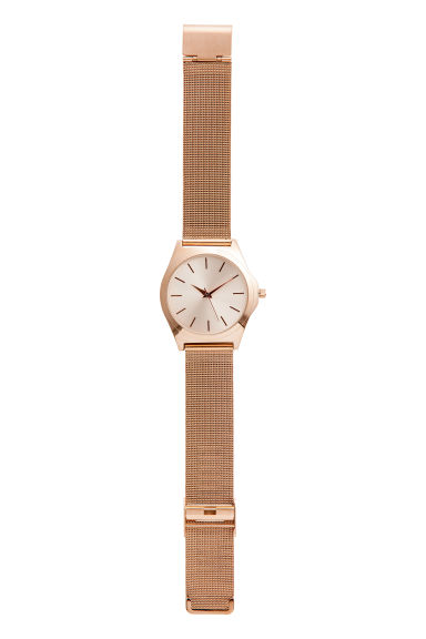 Metal watch - Rose gold-coloured - Ladies | H&M CN 1