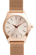Metal watch - Rose gold-coloured - Ladies | H&M CN 2