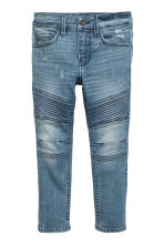 Skinny fit Biker jeans - Denim blue/Washed - Kids | H&M CN 2
