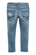 Skinny fit Biker jeans - Denim blue/Washed - Kids | H&M CN 3