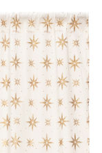 Star-print curtain length - White/Gold-coloured - Home All | H&M IE 2