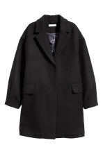 Short wool-blend coat - Black - Ladies | H&M 2