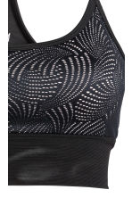 Sports bra Low support - Black/Mesh - Ladies | H&M CN 4