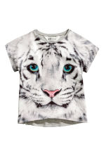 短袖上衣 - Grey/Tiger - Kids | H&M 2