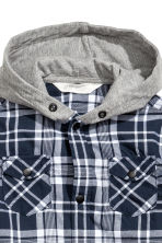Hooded shirt - Blue/Checked -  | H&M 3