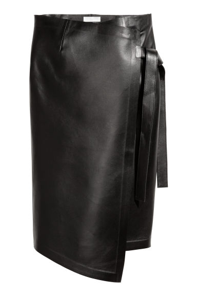 Leather skirt - Black - Ladies | H&M IE
