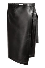Leather Skirt - Black - Ladies | H&M CA 2
