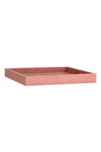 Suede tray - Pink - Home All | H&M IE 2
