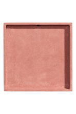 Suede tray - Pink - Home All | H&M IE 3