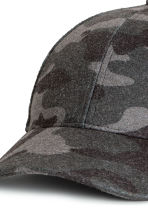 Patterned Felt Cap - Dark gray/patterned - Men | H&M CA 2