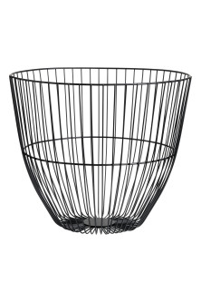 Large metal wire basket