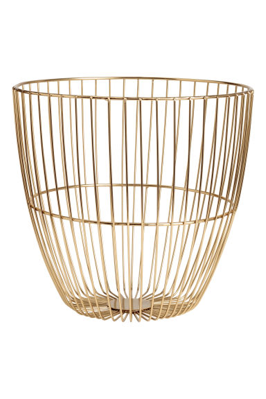 Metal wire basket - Gold-coloured -  | H&M IE