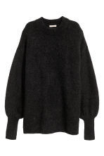 Knitted jumper - Black - Ladies | H&M CN 2