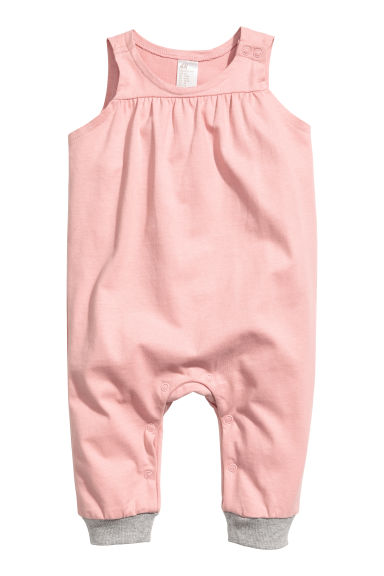 Sleeveless jersey romper - Light pink - Kids | H&M 1