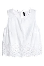 Cotton blouse with embroidery - White - Ladies | H&M 2