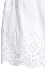 Cotton blouse with embroidery - White - Ladies | H&M 3