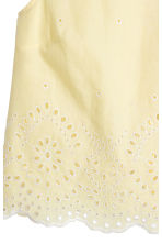 Cotton blouse with embroidery - Light yellow - Ladies | H&M CN 4