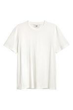 Cotton and silk T-shirt - White - Men | H&M CN 3