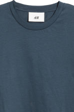 Cotton and silk T-shirt - Dark blue - Men | H&M 3