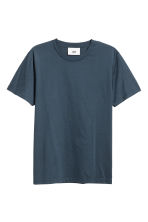 Cotton and silk T-shirt - Dark blue - Men | H&M 2