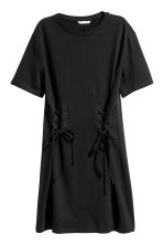 Laced T-shirt dress - Black - Ladies | H&M 2