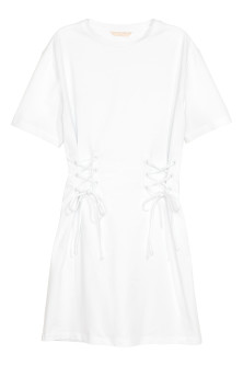 Laced T-shirt dress