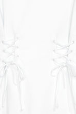 Laced T-shirt dress - White - Ladies | H&M 3