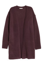 Cardigan in maglia a coste - Bordeaux - DONNA | H&M IT 2
